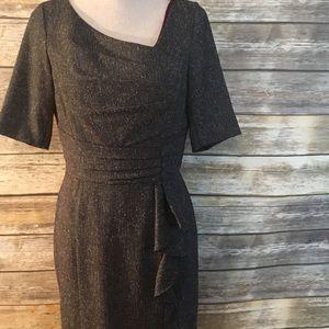 WHBM Sheath Short Sleeve Dress, Size 8